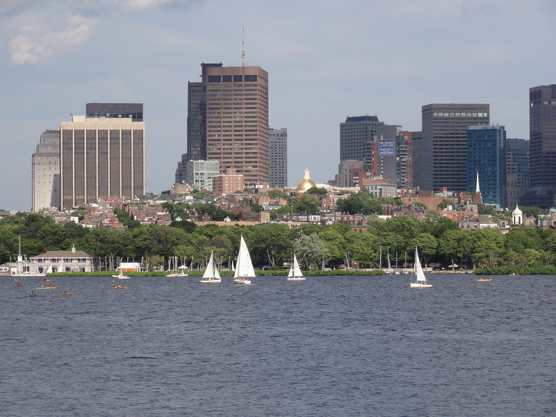 Beacon Hill Boston over the <br>Charles River