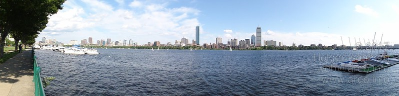 Boston downtown viewed over the Charles River