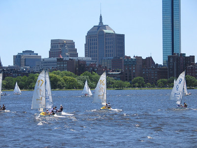 Sailboats on the Charles River, Boston