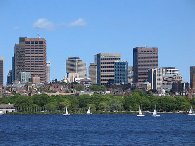 Beacon Hill and Charles River, Boston
