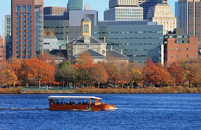 Duck boat on the Charles River