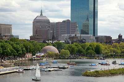 Charles River, Esplanade, and the Hatch Shell
