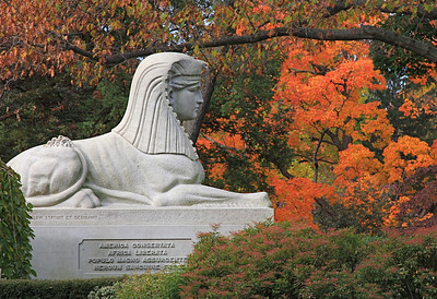 Sphinx - Civil War Monument in Mt. Auburn Cemetery, Cambridge MA