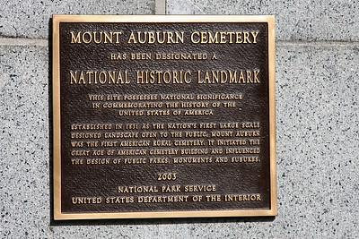 Mt. Auburn Cemetery in Cambridge, Massachusetts