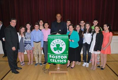 Boston Celtics Legend M.L. Carr Speaks at Holy Trinity, April 30 2017