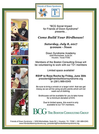 Boston Consulting Group Build a Birdhouse Day