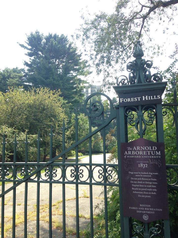 Entrance to Arnold Arboretum.