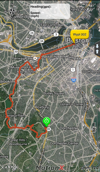This is a map of my walk from Franklin Park to Boston Common. You can get the official maps of the Emerald Necklace here: http://www.emeraldnecklace.org/park-overview/park-map/