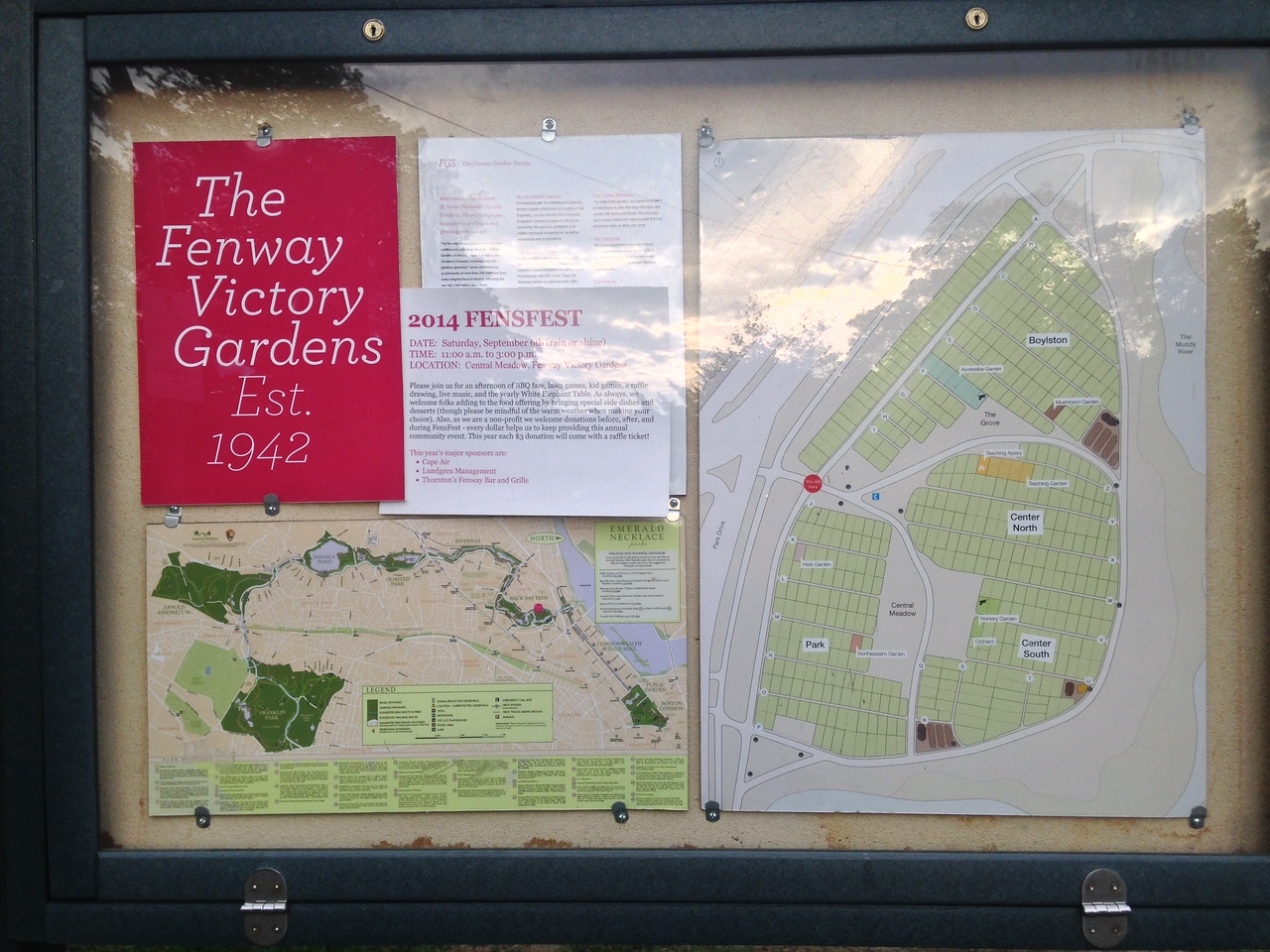 Sign for the Fenway Victory Gardens.