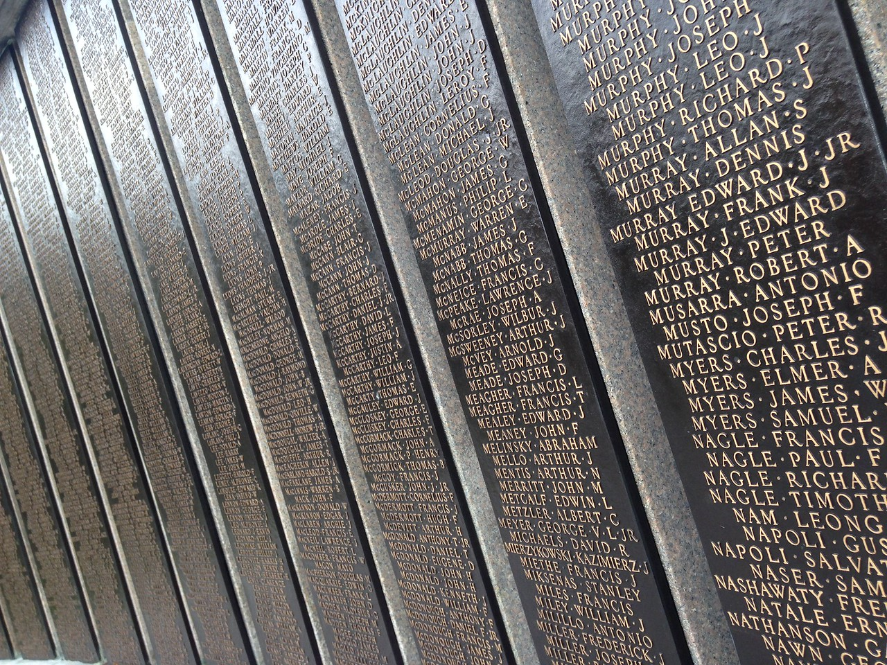 Back Bay Fens war memorial.