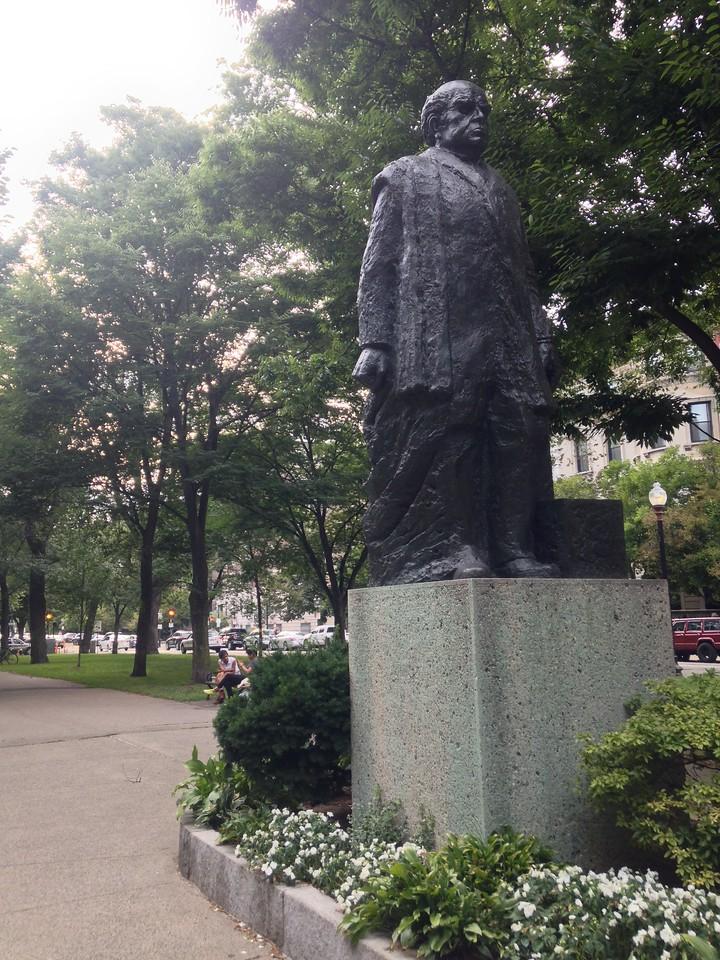 Statue of Domingo F. Sarmiento, past president of Argentina.