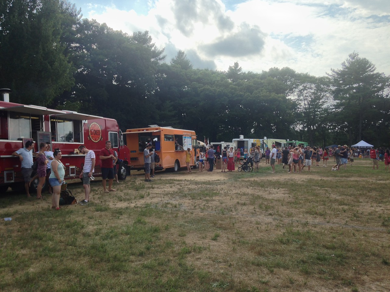 On the other side of Jamaica Pond, I discovered that the JP Music Festival was happening. Lots of Food Trucks selling delicious smelling food, bands playing loud music, lots of people looking happy.