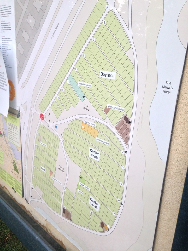 Map of the Fenway Victory Gardens.