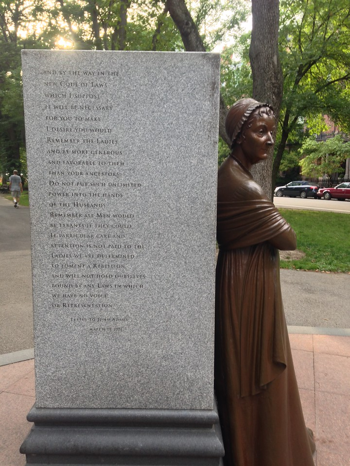 Abigail Adams sculpture at the Boston Women's Memorial.