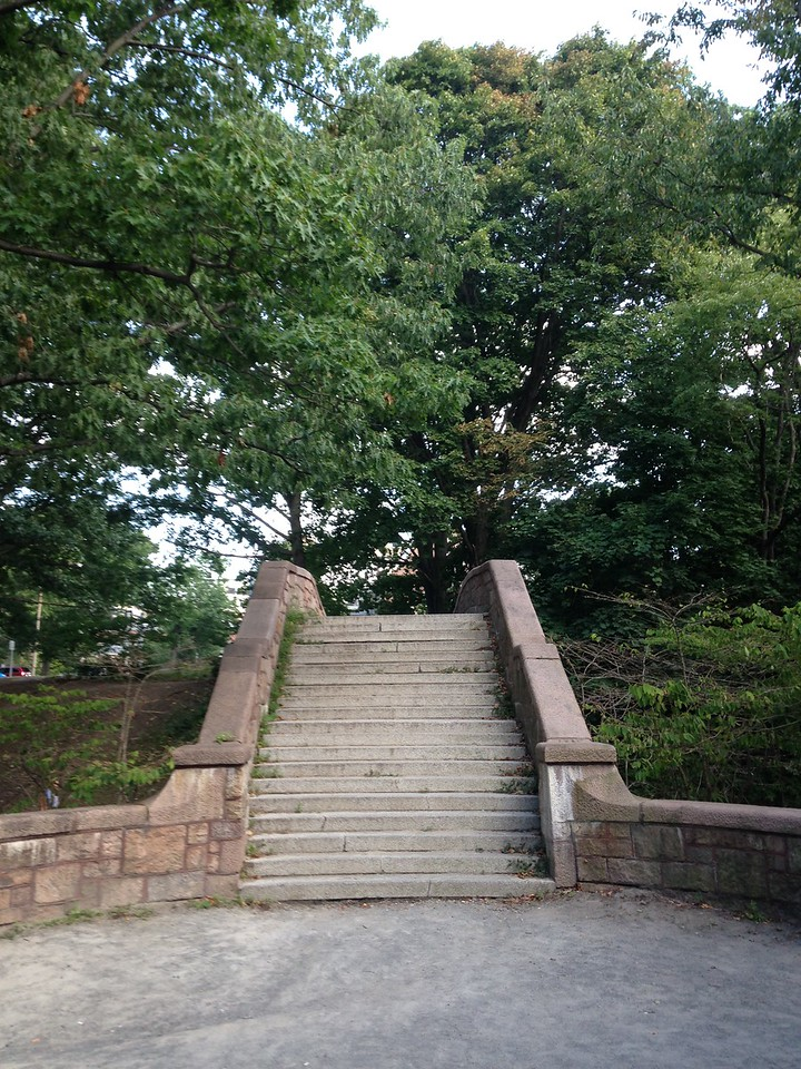 Stairs in the Riverway.