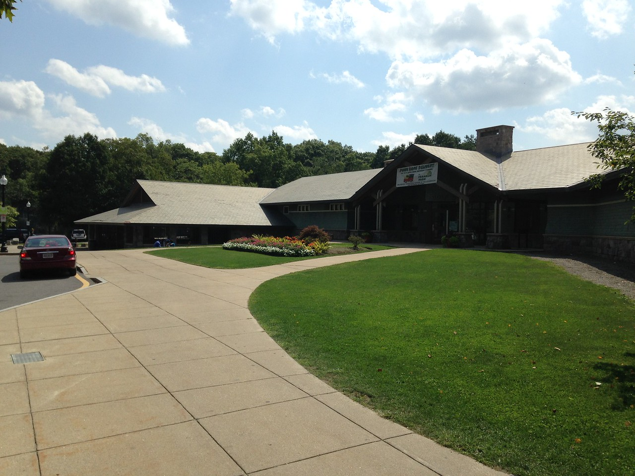 Clubhouse at the golf course in Franklin Park.