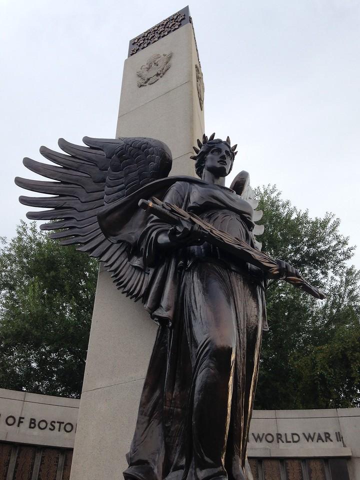 Angel sculpture at the war memorial.