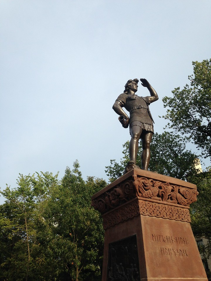 Leif Ericson Statue at the entrance to the Commonwealth Ave Mall.