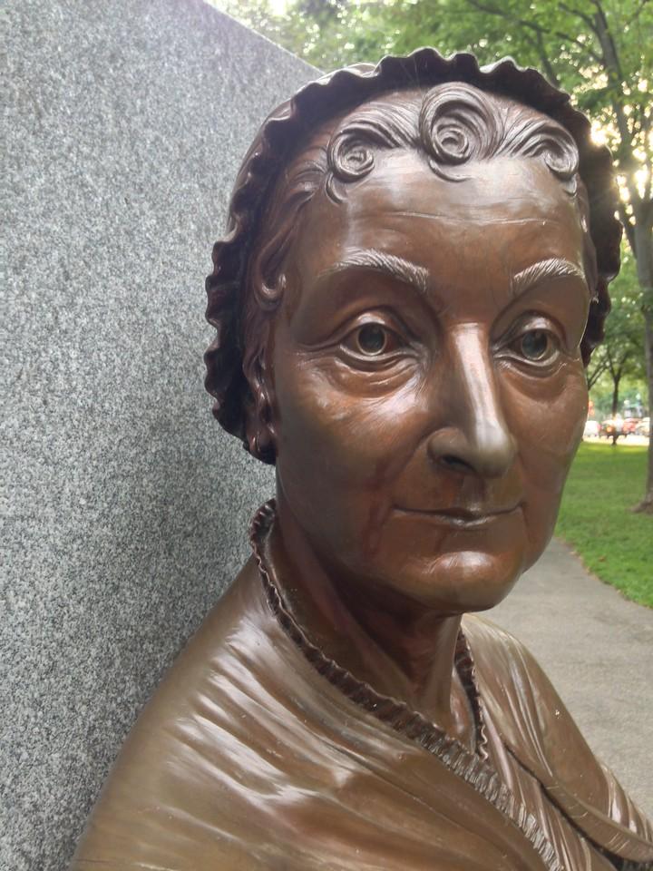 Abigail Adams sculpture at the Boston Women's Memorial.