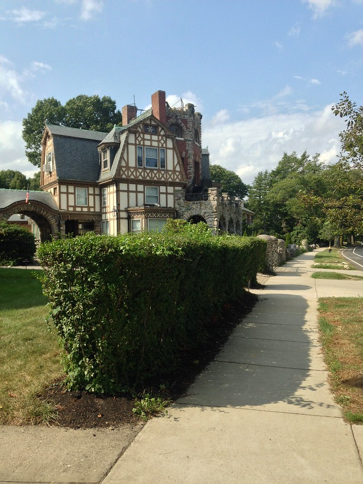 An interesting house on the Arborway between the Arnold Arboretum and Jamaica Pond.