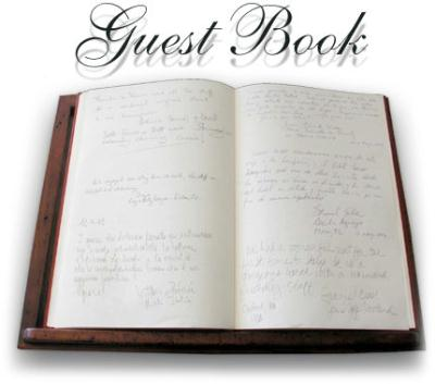 """Sign the Guest Book, go to add Comments and sign in, Put them in Gallery Comments<font size =0>  <font color=""""yellow""""> <font size = 2 >"""