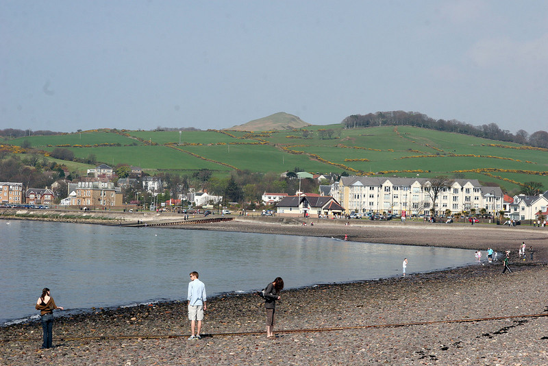 Largs is a retirement town on the river in the hillside of Scotland