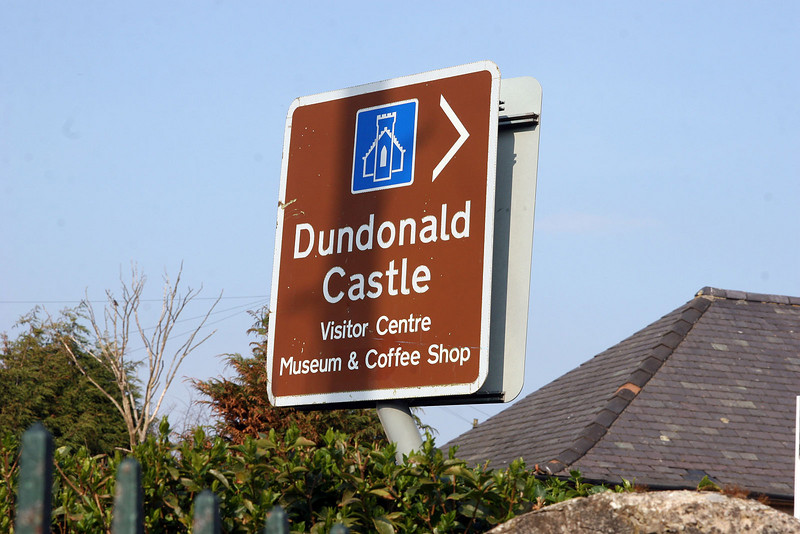 Next after Largs we stopped at Dundonald Castle