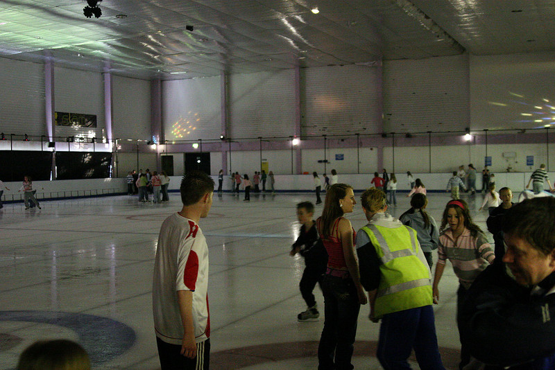 Public Skating in Irvine Ice Rink before the midget game