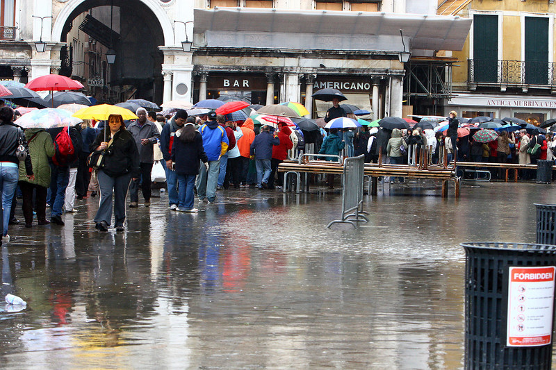 The water in St. Marks square