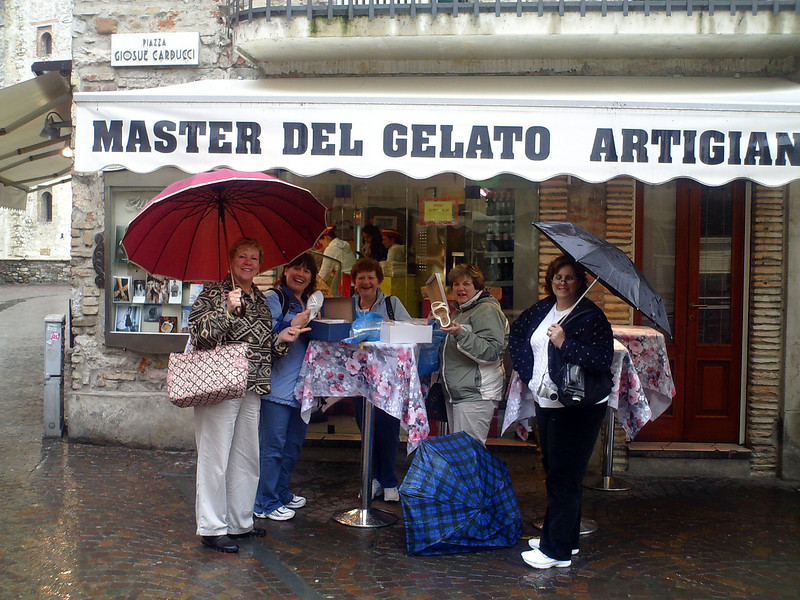 The rain did not stop the true Shoppers
