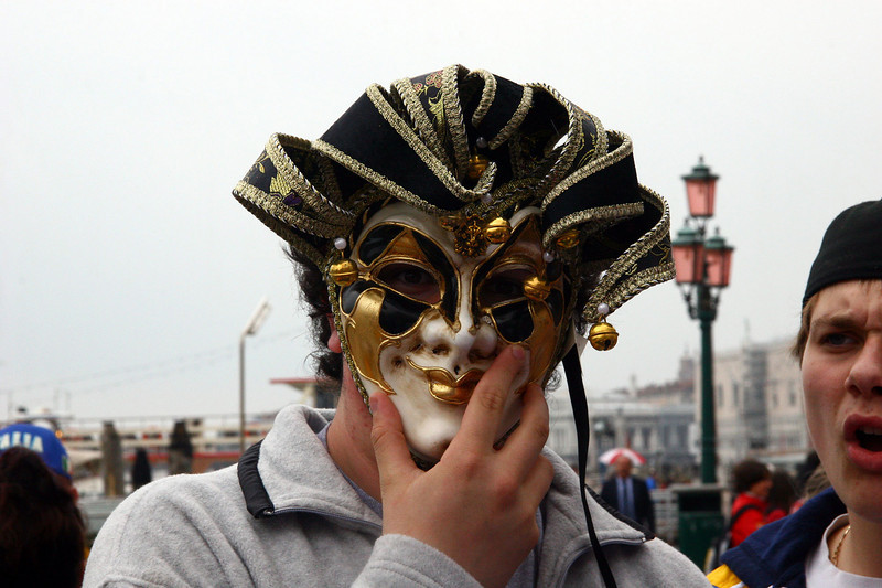 Bernd tells us that in Venice they all practice being good during lent and the 3 days that follow they are very sinful.  The masks are used to hide their identity as they make use the time wisely during the celebration.