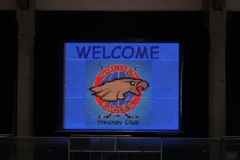 The Nice Welcome on the Rink Scoreboard