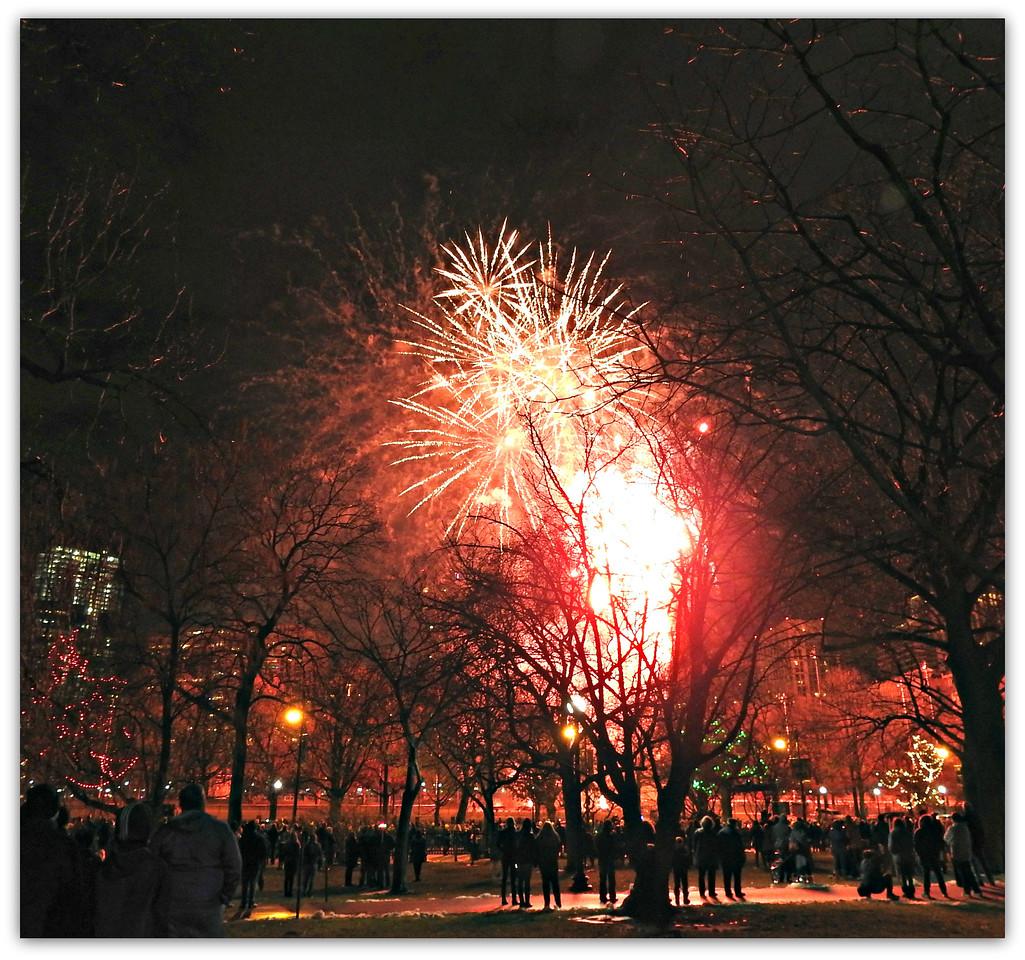 Happy New Year 2016 Boston Common