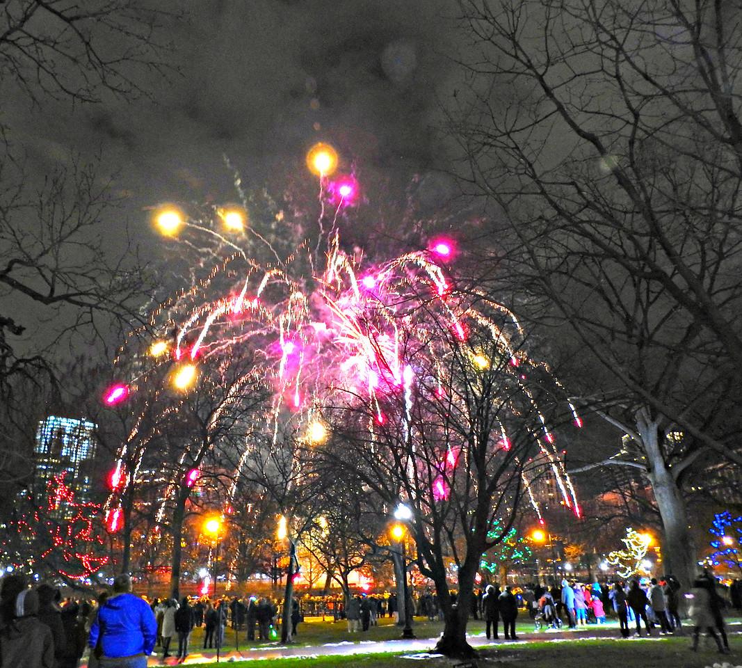 New Year Fireworks, Boston Common