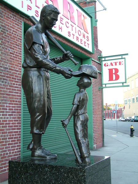 Red Sox legend ~ Ted Williams Statue 2015