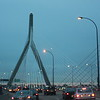 Leonard P. Zakim Bunker Hill Memorial Bridge at dusk ~ Boston, MA