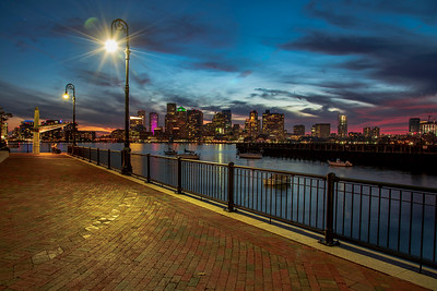Sunset at Noddle Island, Boston, Massachusetts