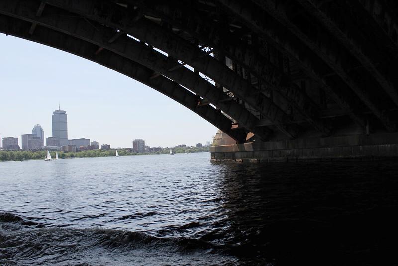 crossing under Long Fellow Bridge ~ Boston
