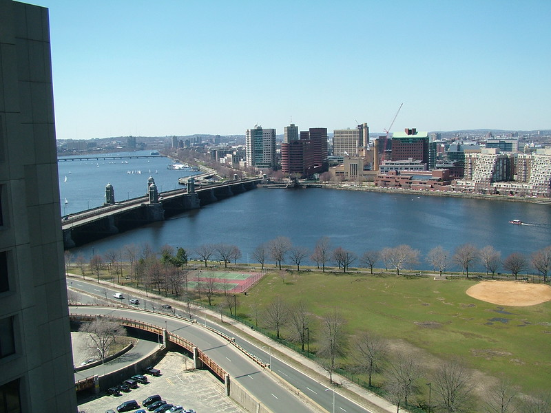 overlooking the Charles River ~ Boston