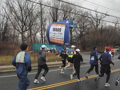 Entering Natick after 9 miles
