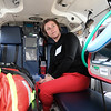 Brooke Melia with Aisling Partners Insurance Brokerage LLC> got to see the inside of on of the Boston Med Flights helicopters after the ground breaking ceremony on Wednesday morning at Hanscom Field, Bedford. On June 7, 2017 Boston Med Flight held a ground breaking ceremony for a new headquarters and Critical Care Transport Operations Facility at Hanscom. SUN/JOHN LOVE