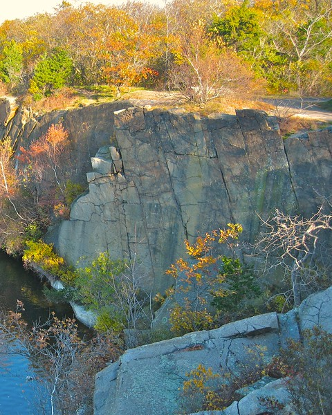 Quarry cuts at Halibut Point State Park