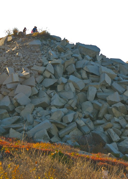 Rock pile. scrap from the quarry at Halibut Point State Park