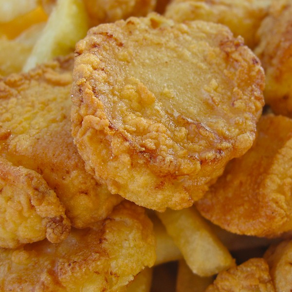 Fried Scallops from the Clam Box in Ipswich, MA