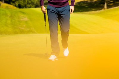 PGA golfer Justin Rose poses for a portrait with his Axis1 putter at Ardsley Country Club on September 21, 2020. Photo by Adam Glanzman