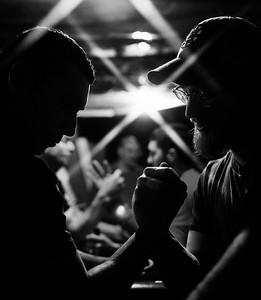 Every Thursday night a dozen or more arm wrestlers from across Massachusetts gather in a basement in West Bridgewater to practice their arm wrestling techniques.