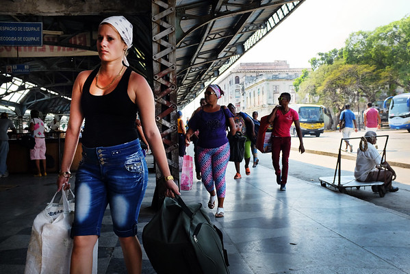 People arrive at the Havana Central railway station up to 4 hours early to secure their reservation and obtain a ticket east towards Santiago de Cuba.
