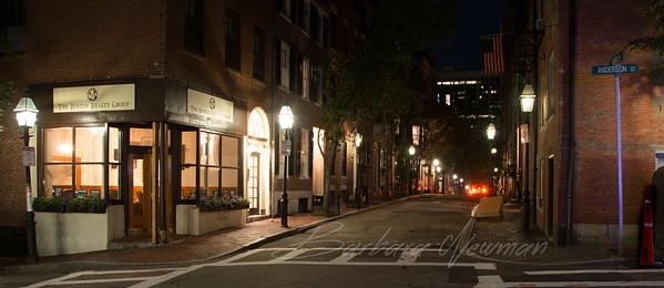 A Beacon Hill street in Boston