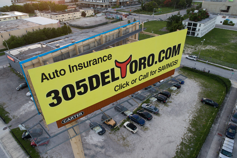 Auto insurance billboard advertisement