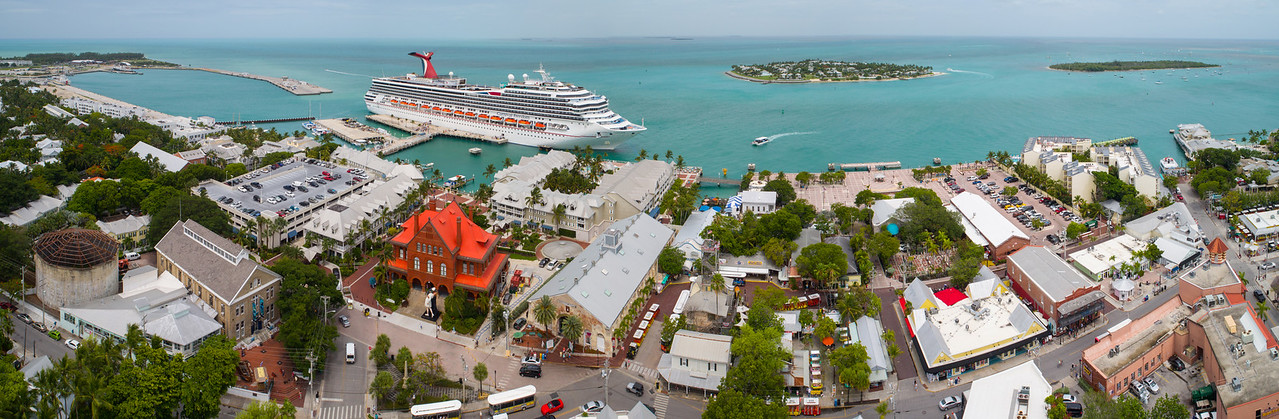 Aerial image of Mallory Square Key West FL
